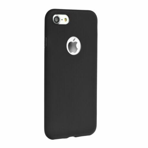 Apple iPhone 7 / 8 / SE 2020 Matt Fekete Színű Szilikon Tok