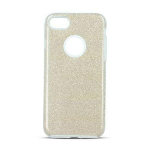 Apple iPhone 12 / 12 Pro Shining Glitter 3in1 Arany Színű Szilikon Tok