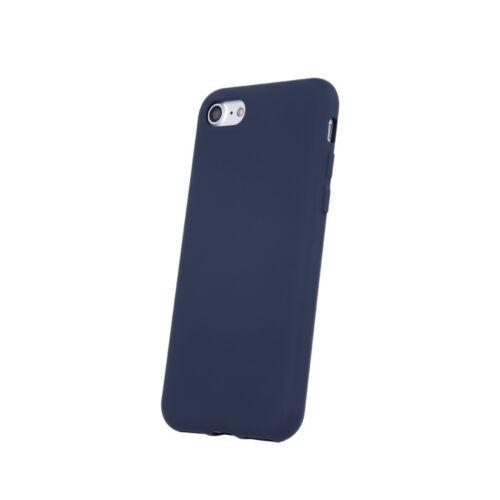 Samsung A12 Silicone Matt Felületű Sötétkék Színű Szilikon Tok