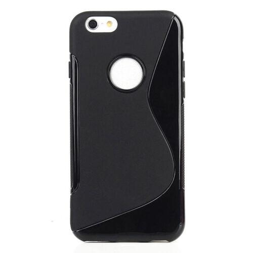 Apple iPhone 6 Plus / 6S Plus S-Line Fekete Színű Szilikon Tok