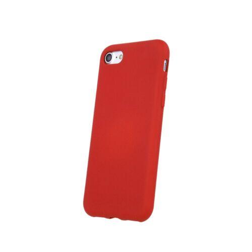 Apple iPhone 13 Silicone Matt Felületű Piros Színű Szilikon Tok